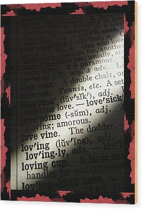 A Light On Love Wood Print