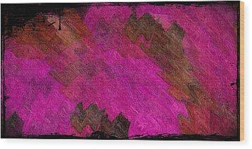 A Lipstick Scrawl Wood Print by Terry Mulligan