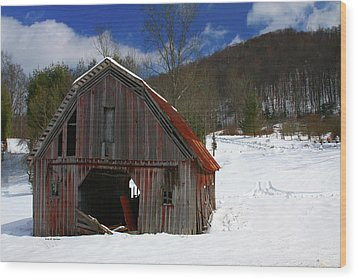 A Little Rust Wood Print by Dale R Carlson