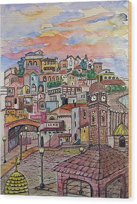A Little Town In France Wood Print by Patricia Arroyo