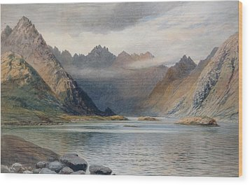A Loch North Of Hadrian's Wall Wood Print by Walter Severn