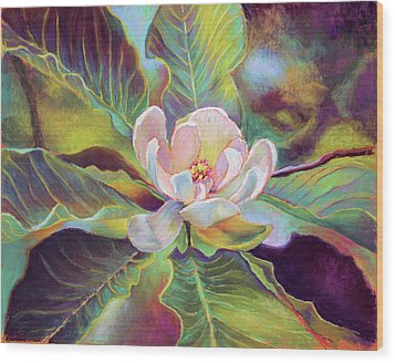 A Magnolia For Maggie Wood Print by Susan Jenkins