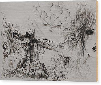 A Man Of Sorrows Wood Print by Rachel Christine Nowicki