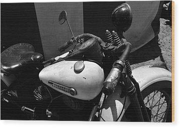A Mans Harley Wood Print by David Lee Thompson