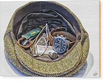 Wood Print featuring the photograph A Man's Items by Walt Foegelle