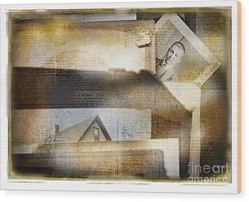 Wood Print featuring the photograph A Man's Story by Craig J Satterlee