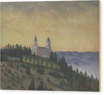 A Manti  Morning Wood Print by Jeff Brimley