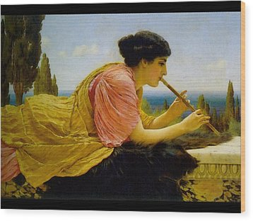 A Melody  Wood Print by John William Godward