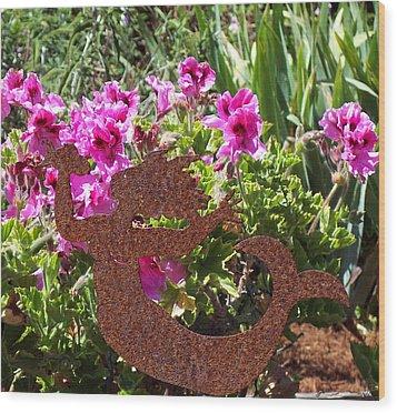 A Mermaid In My Garden Nb Wood Print