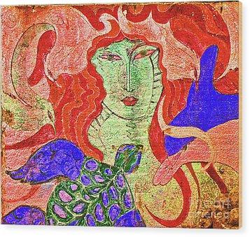 A Mermaids Life Wood Print