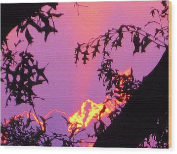 Wood Print featuring the photograph A Mid-summer Sunset by Susan Carella