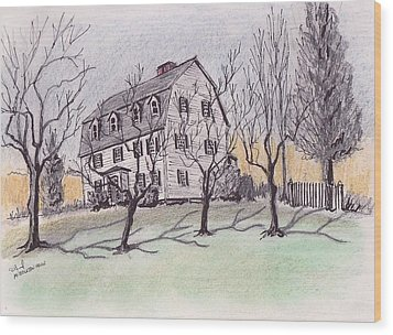 A Middleton Ma Gambrel Wood Print by Paul Meinerth