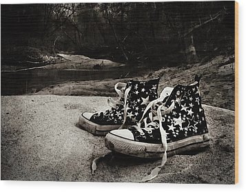 Wood Print featuring the photograph A Mile In My Shoes by Jessica Brawley