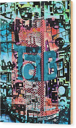 Wood Print featuring the mixed media A Million Colors One Calorie by Tony Rubino