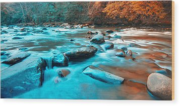 A Moment In The Great Smoky Mountains Wood Print by Rich Leighton