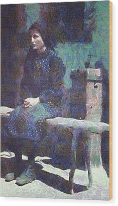 Wood Print featuring the digital art A Moment Of Meditation by Gun Legler