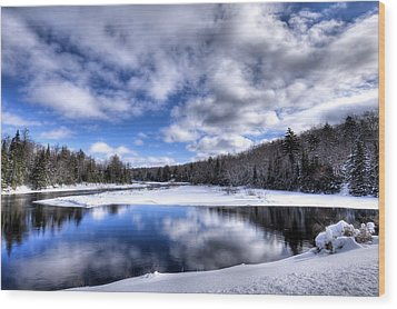 Wood Print featuring the photograph A Moose River Snowscape by David Patterson
