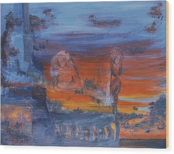 Wood Print featuring the painting A Mystery Of Gods by Steve Karol