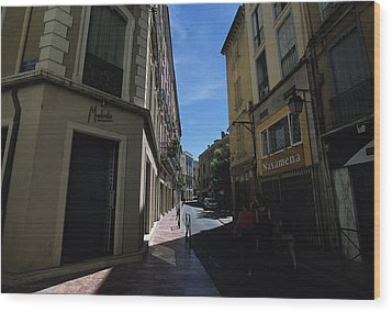 A Narrow Alley In Perpignan, France Wood Print by Stacy Gold