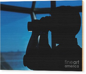 A Navy Air Traffic Controller Maintains Wood Print by Michael Wood