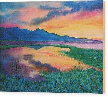 A New Beginning Wood Print by Ramneek Narang