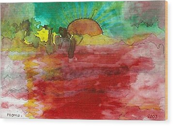 A New Dawn.. Wood Print by Rooma Mehra