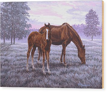 A New Day Begins Wood Print by Richard De Wolfe