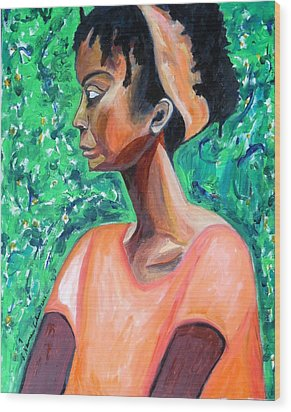 Wood Print featuring the painting A New Queen Of Sheba by Esther Newman-Cohen