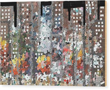 A Night In Chicago Wood Print by Don Phillips
