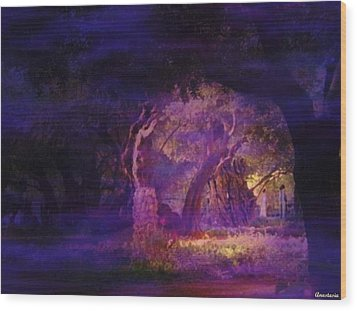 Wood Print featuring the photograph A Night Of Weeping In The Garden Gethsemane Israel 2008 by Anastasia Savage Ealy