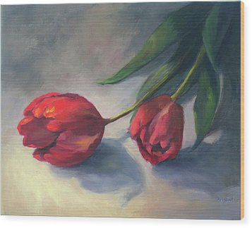 A Pair Of Tulips Wood Print