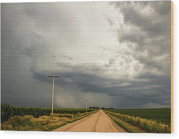 A Passion For Shelf Clouds 001 Wood Print