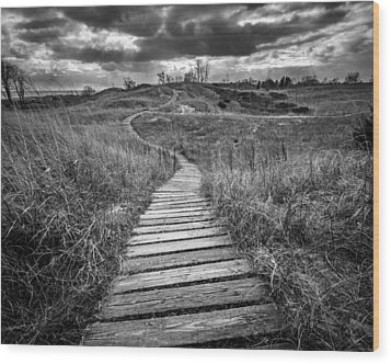 A Path Unwound Wood Print