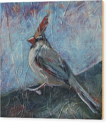 Wood Print featuring the painting A Pause In The Feast by Pattie Wall