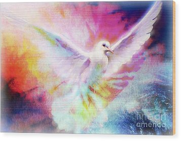 A Peace Dove Wood Print
