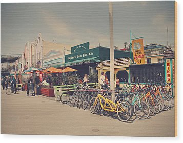 A Perfect Day For A Ride Wood Print by Laurie Search