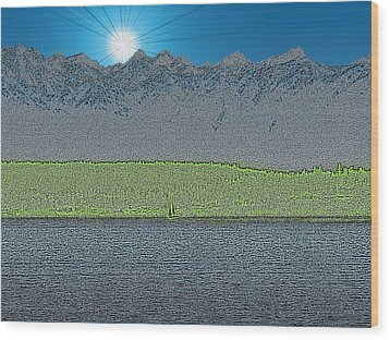 A Perfect Ending Wood Print by Tim Allen