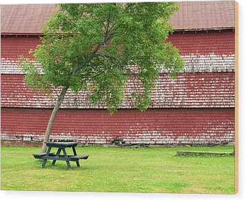 Wood Print featuring the photograph A Picnic For You And Me by Corinne Rhode