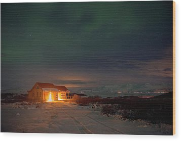 Wood Print featuring the photograph A Place For The Night, South Of Iceland by Dubi Roman