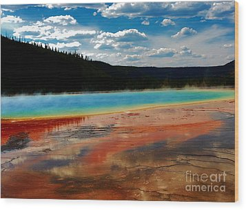Wood Print featuring the photograph A Pool Of Color by Robert Pearson