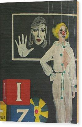 A Portrait Of A Woman Wood Print by Georgette Backs