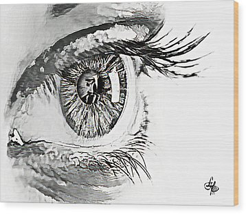 A Prayerful Eye Wood Print