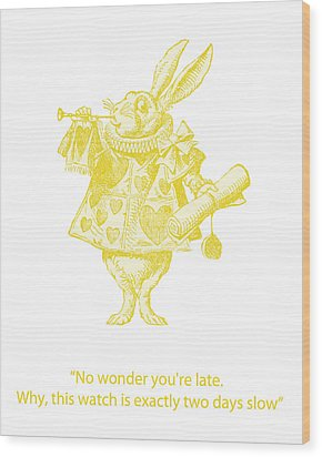 A Punctual Rabbit Wood Print by Georgia Fowler