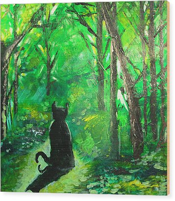 A Purrfect Day Wood Print