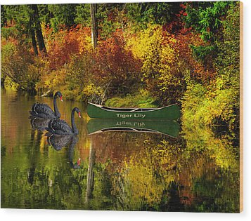 Wood Print featuring the photograph A Quiet Autumn Evening by Diane Schuster