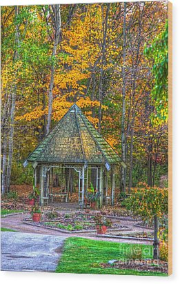 A Quiet Place-fall Time Wood Print by Robert Pearson