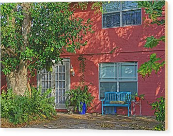 Wood Print featuring the photograph A Quiet Respite by HH Photography of Florida