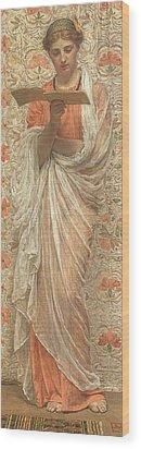 A Reader Wood Print by Albert Joseph Moore