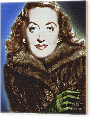 A Real Dame Wood Print by Wbk