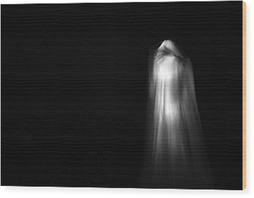 A Real Ghost Photo Wood Print by Michael Ledray